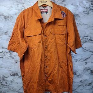 Wrangler Short Sleeve Button Down Shirt Mens L New